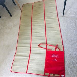Other - Bamboo mat, beach picnic or bed, red carry straps